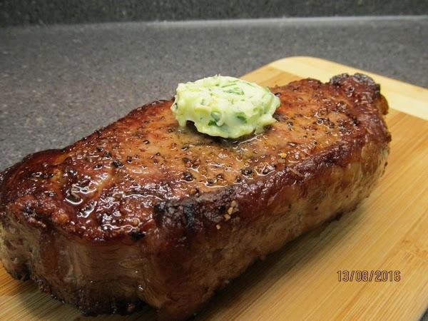 Classic Delmonico Steak (with Herbed Butter) Recipe