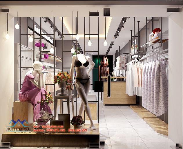 thiết kế shop đồ lót bắt mắt