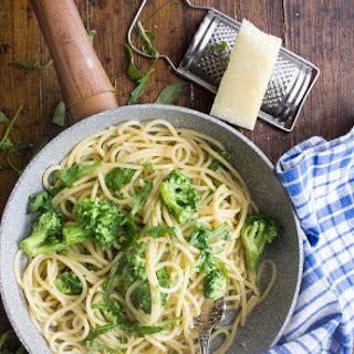 Spaghetti Broccoli Arugula and Pecorino