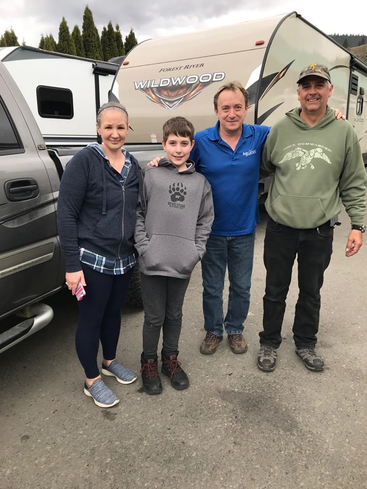 Happy customers of South Thompson RV with their new Wildwood trailer