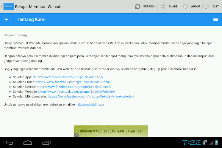 android Belajar Membuat Website Screenshot 3
