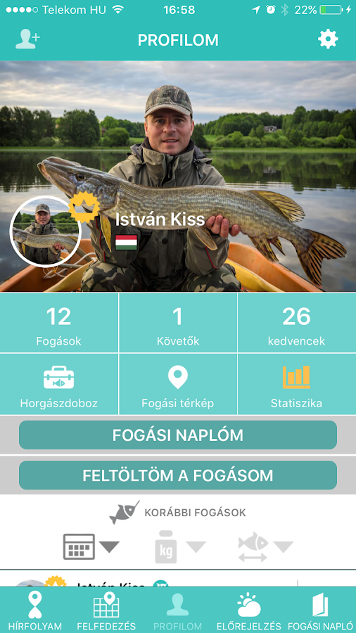 Fishinda Horgász App- screenshot