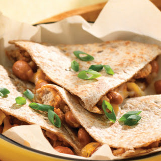 Chile Chicken & Pinto Bean Quesadillas