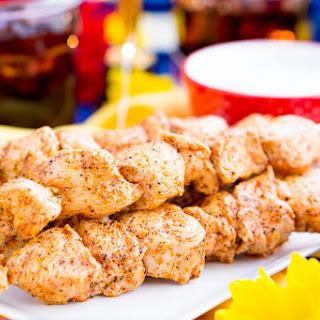 Baked Cajun Chicken Skewers.