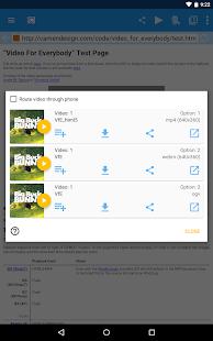 WebVideoCaster Chromecast/DLNA- screenshot thumbnail