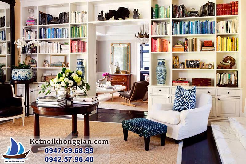 thiết kế phòng đọc sách gia đình đẹp tuyệt với