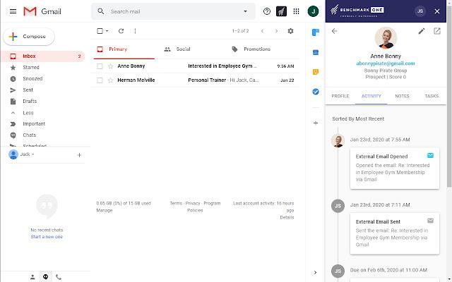 BenchmarkOne Gmail Integration