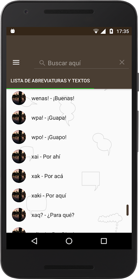 Elige Texto Lite for WhatsApp- screenshot