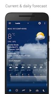Transparent clock & weather Screenshot