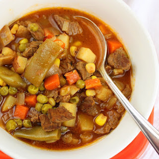 Vegetable Beef Soup With Tomato Juice Recipes.