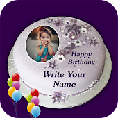 Name Photo On Birthday Cake