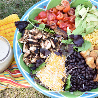 Southwest Salad with Cilantro Chipotle Dressing