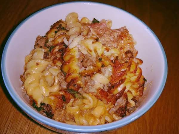 Beef & Bacon Pasta Casserole Recipe