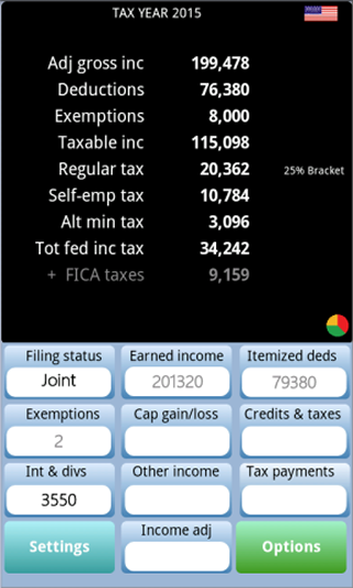 TaxMode: income tax calculator- screenshot