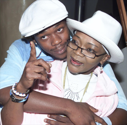 Bongani Fassie and his mother Brenda.