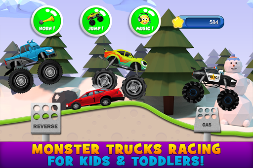 Monster Trucks Game for Kids 2 apkpoly screenshots 1