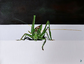 Photo: Heuschrecke, Acryl, 30x40 cm, danke an Picsession für die gute Vorlage! Grasshopper, acrylic painting on canvas, 30x40 cm, thanks to picsession for the great photo
