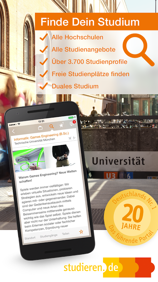 studieren.de - Studium finden!- screenshot