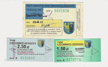 Photo: Nieaktualne bilety PKM z herbem miasta, bez których zbiór nie byłby pełny.