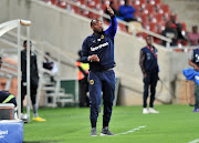 Benni McCarthy, Coach of Cape Town City FC reacts during the Absa Premiership 2017/18 match between Baroka and Cape Town City at Peter Mokaba Stadium, Polokwane on 27 February 2018.