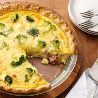 Ham and Broccoli Quiche.