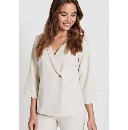 Dry Lake Ammi blouse beige jacquard