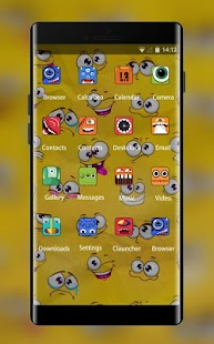 Yellow Cartoon Theme for android free - náhled
