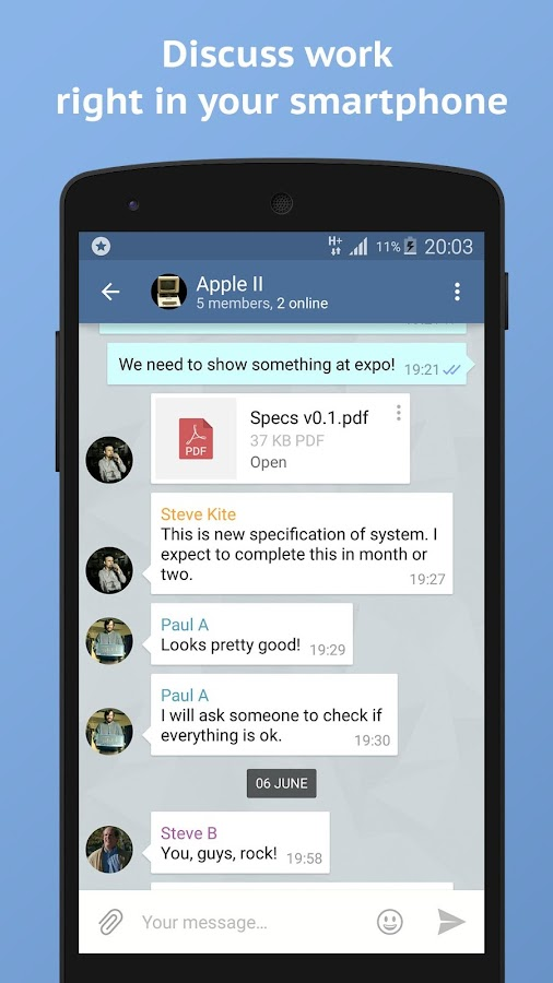 Actor Messenger- screenshot