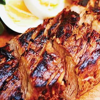 Smoked BBQ Pork with Watercress Salad