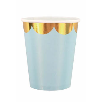 Cup blue/gold