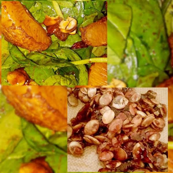 Spinach,orange, Cranberry Salad W/ Pumpkin Brittle Recipe
