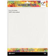 Tim Holtz Alcohol Ink Yupo Paper 86lb 5/Pkg - White