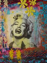 Photo: Marylin en Pop Art 16 X 20 techniques mixtes 200$