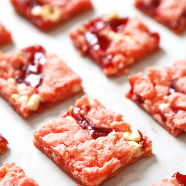 Strawberry Cake Mix Brownies Recipe