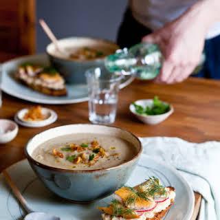 Jerusalem Artichokes and Parsnip Soup.
