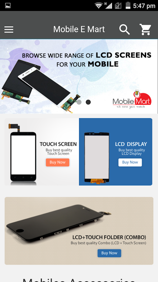 Mobile E Mart- screenshot
