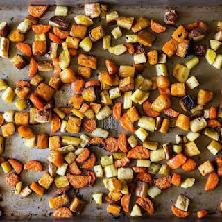 Crisp and Tender Roasted Root Vegetables.