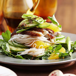 Roast Duck with Orange and Noodle Salad.