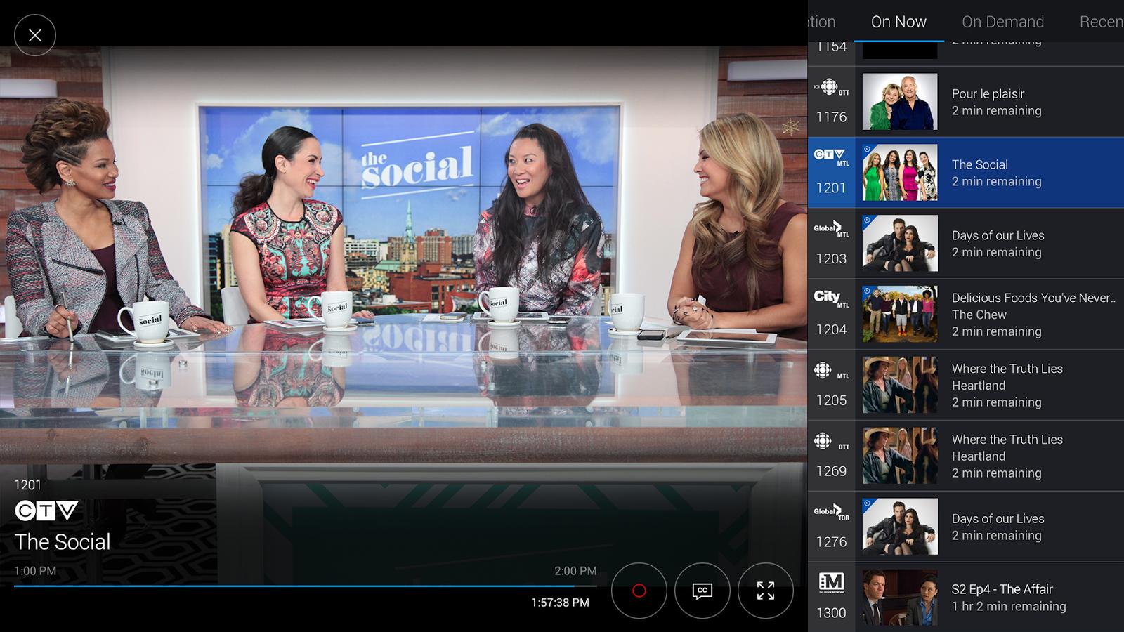 bell fibe tv app dashboard