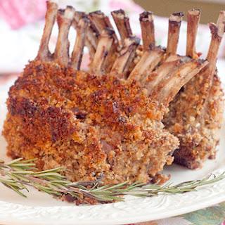 Roasted Rack of Lamb.