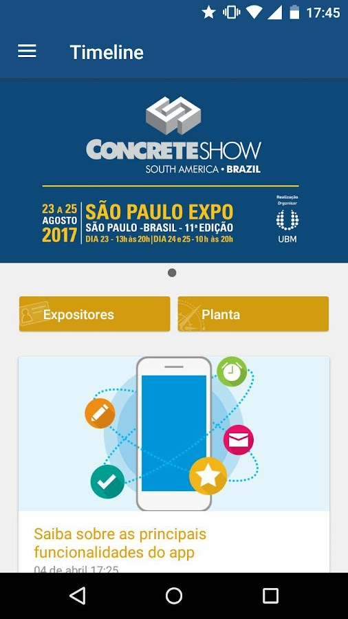 Concrete Show: captura de tela