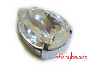 Photo: Swarovski Crystal Elements 4320 Pear Fancy Stones with setting 18x13mm - Clear Crystal http://www.anybeads.com/crystal-swarovski-crystal-4320-pear-stones-18x13mm-1pcs-p-2703.html