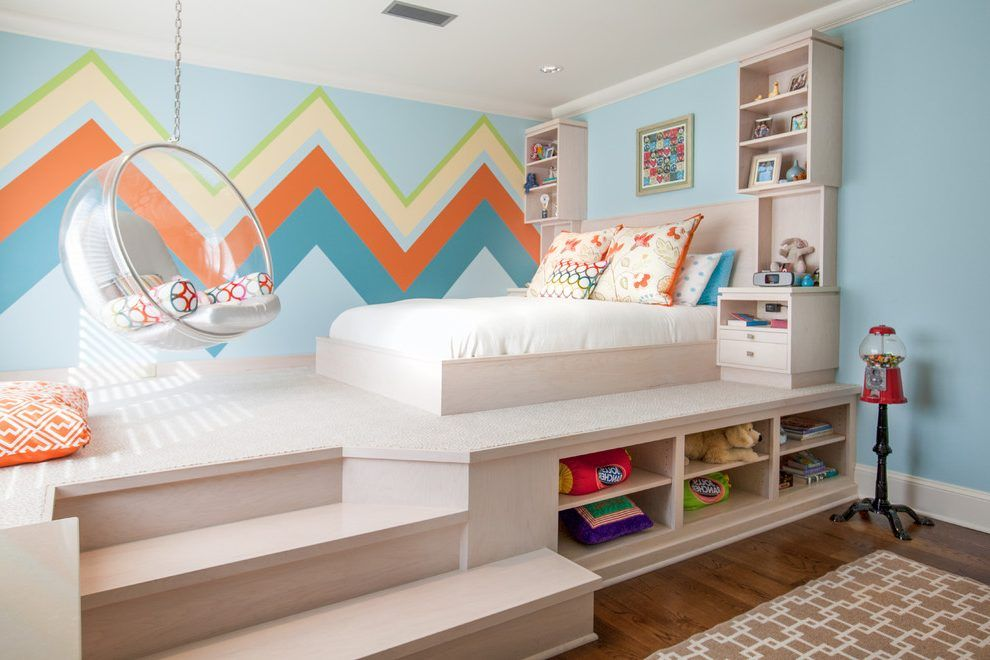 A Platform Bed with Drawers