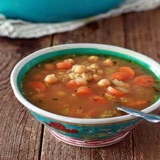 Chickpea & Rice Soup.