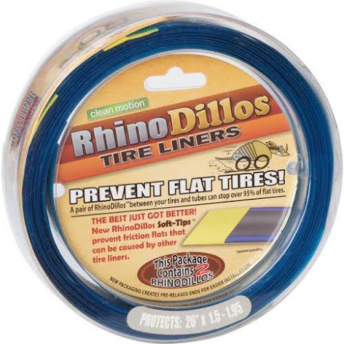 Rhinodillos Tire Liner: 26x1.5-1.95 Silver, Pair