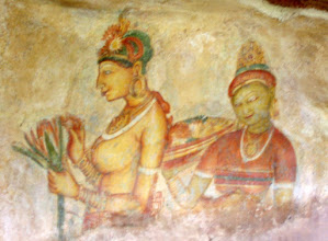 Photo: Fresco at Sigiriya