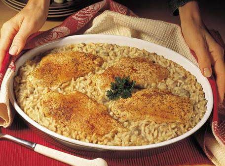 One Dish Baked Chicken