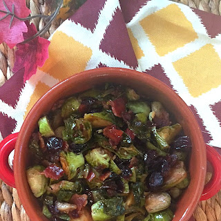 Cranberry Bacon Brussels Sprouts
