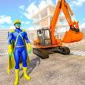 Construction Excavator Simulator: Superhero Game icon