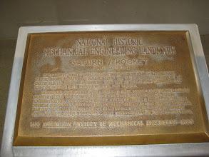 Photo: Saturn V National Historic landmark plaque